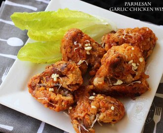 GARLIC PARMESAN WINGS RECIPE - PARMESAN GARLIC CHICKEN