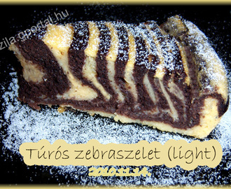 Túrós zebraszelet (light)