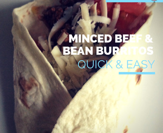 World Cup Special Recipe - Mexico vs Brazil - Beef and Bean Burritos