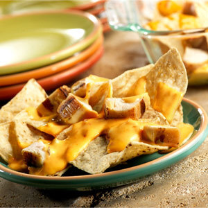 Mexican Four Cheese Chicken Nachos