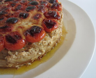 Meatloaf Baked Cake with Veal, Mediterranean Scents & Cherry Tomatoes
