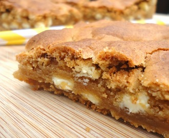 Peanut Butter White Chocolate Chip Blondies