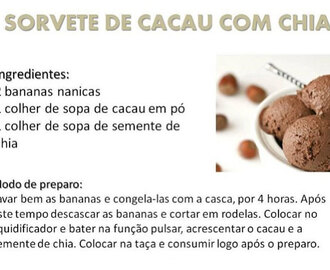 Receita: Sorvete de Chocolate Fake