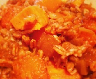Spelt Risotto with Butternut Squash and Sweet Potato