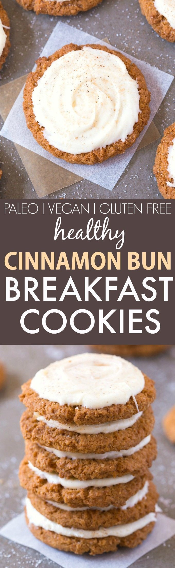 Healthy Cinnamon Bun Breakfast Cookies