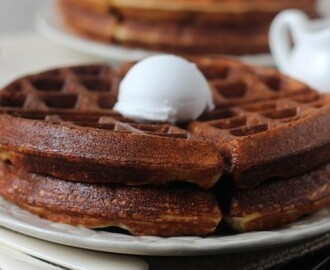 Light and Crispy Vanilla Protein Waffles |