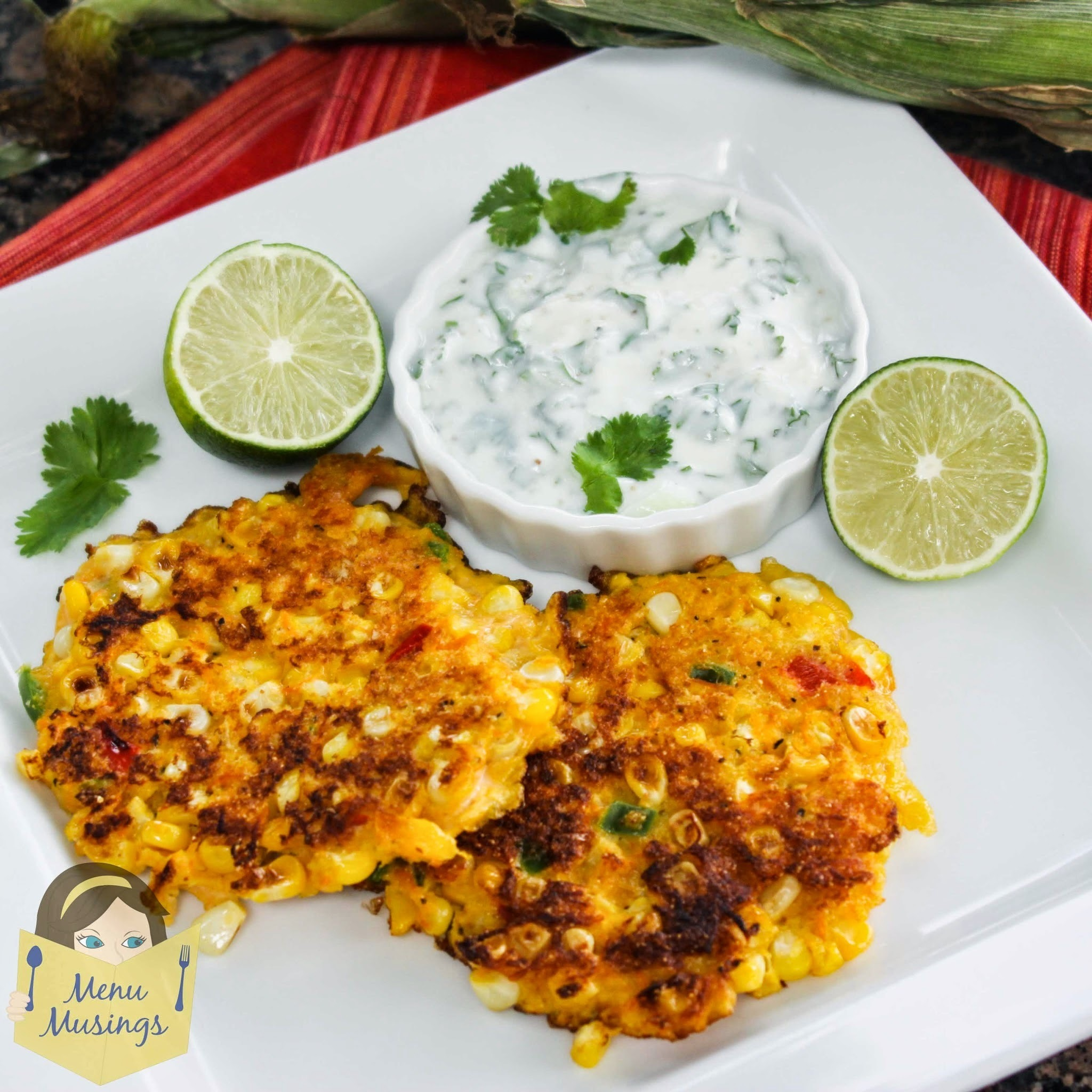 Corn Cakes with Cilantro Lime Cream