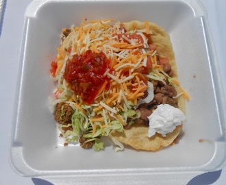 Indian Taco at the Fundraising Event for the 2013 Paiute Snow Mountain Pow Wow, Las Vegas!
