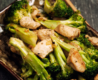Chicken brocoli stir fry