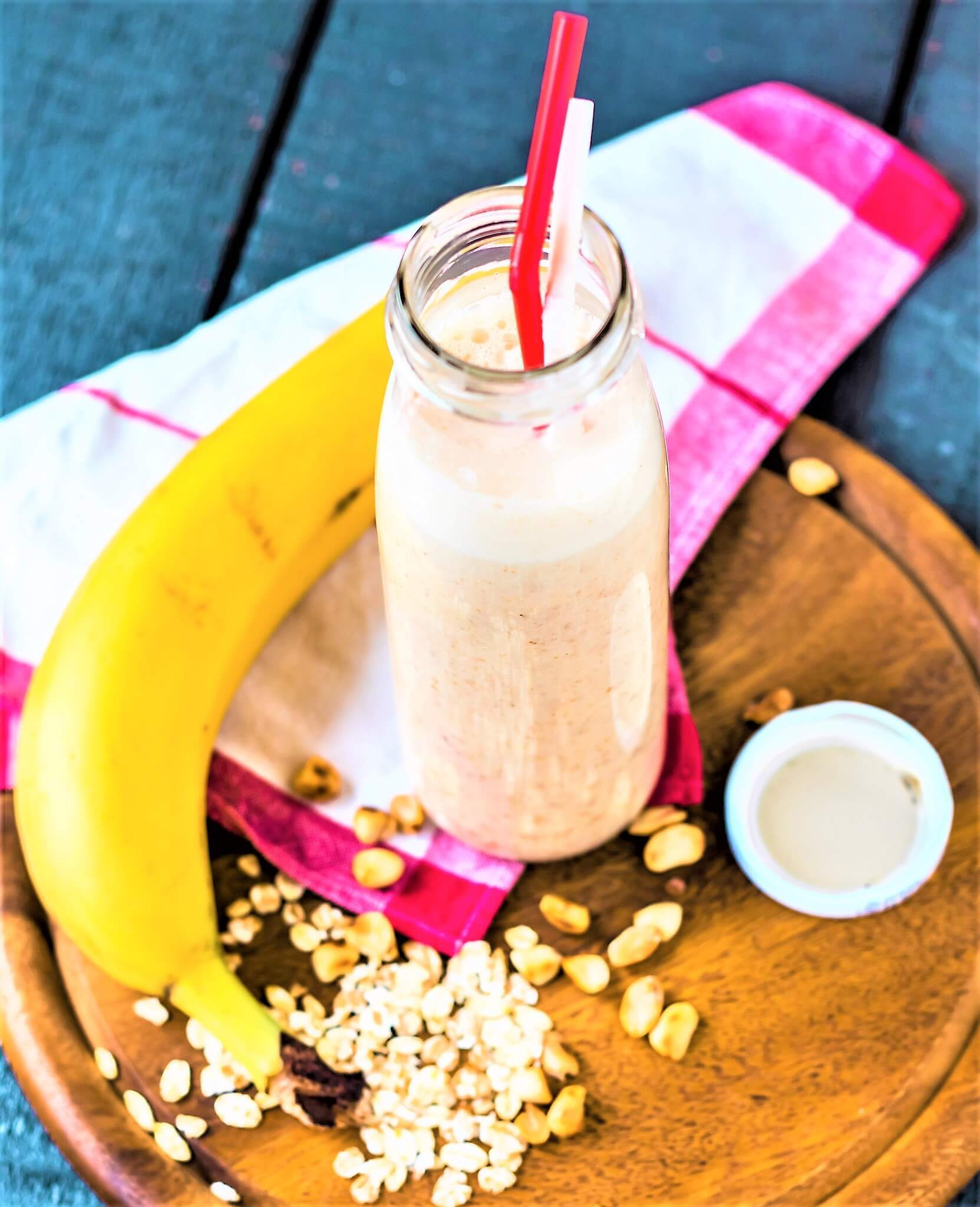 SMOOTHIE WITH BANANA AND OATS+VEGAN OPTION