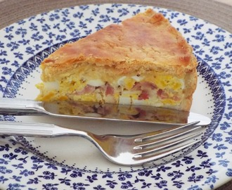 Cheap Budget Meal - Egg and Bacon Pie