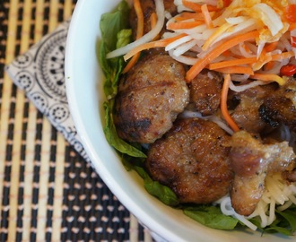 Vietnamese vermicelli with Barbecued Pork (Bun cha thit nuong)