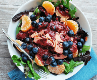 Salmon Salad with Fresh Blueberry Vinaigrette