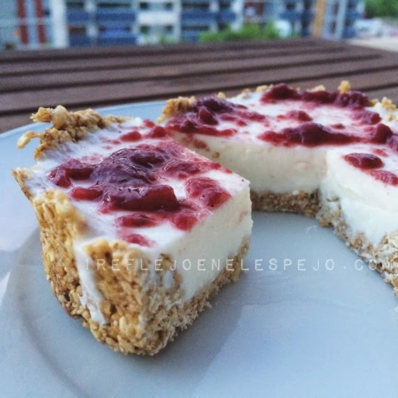 Tarta de queso fit