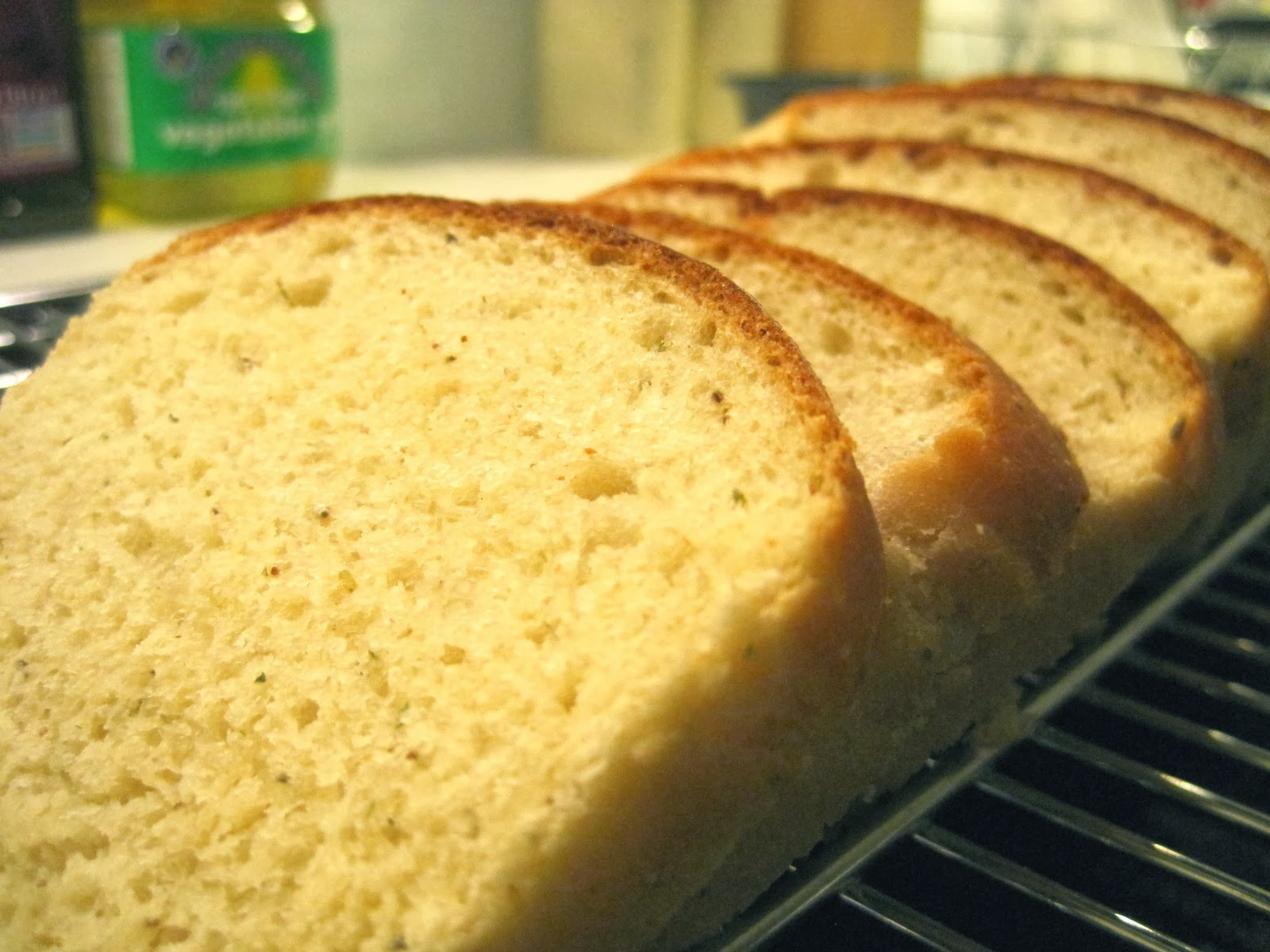 Classic white bread with italian herbs