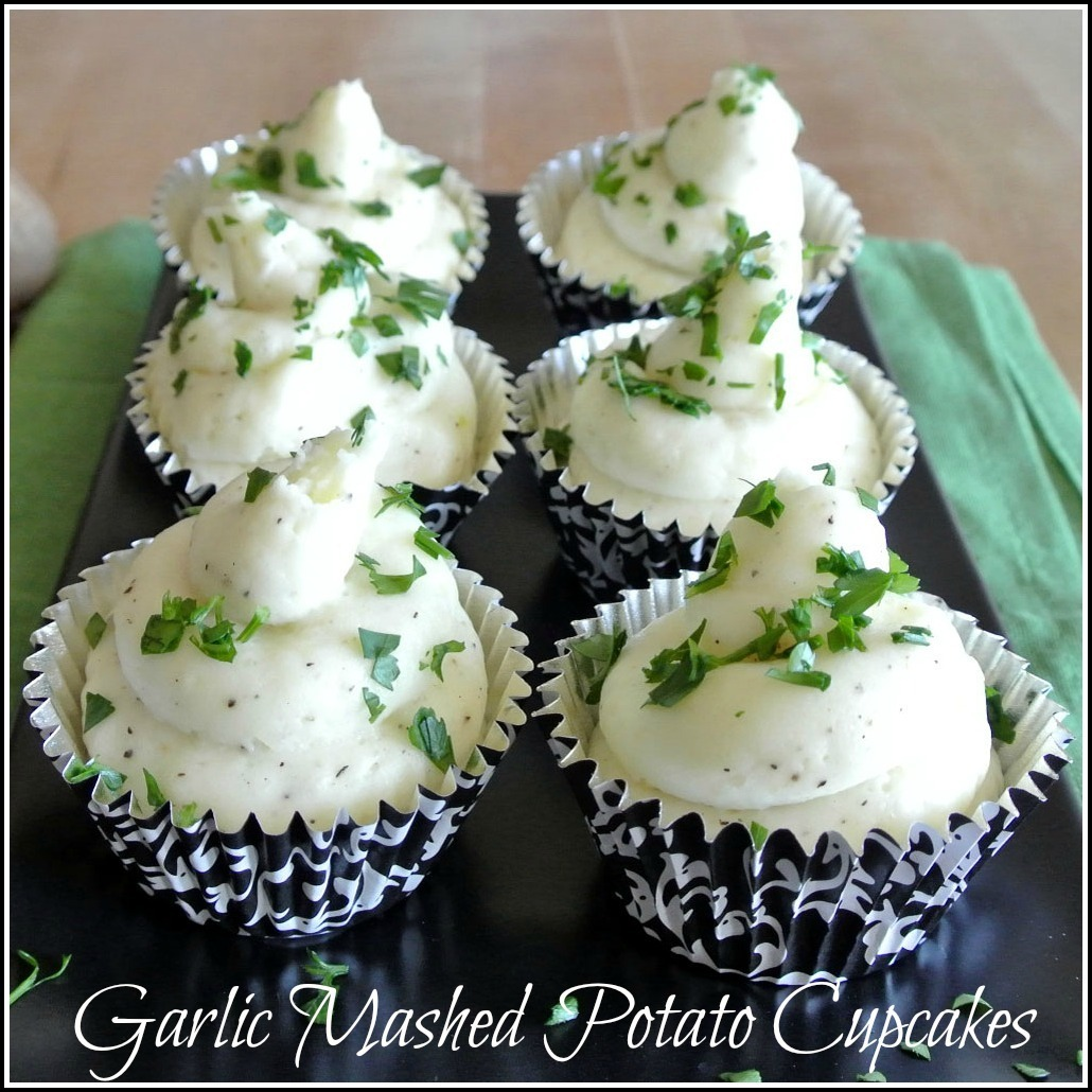 Garlic Mashed Potato Cupcakes
