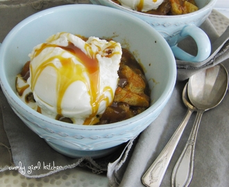 Salted Caramel Apple Bread Pudding