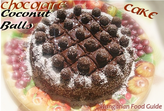 Chocolate Coconut Balls Cake