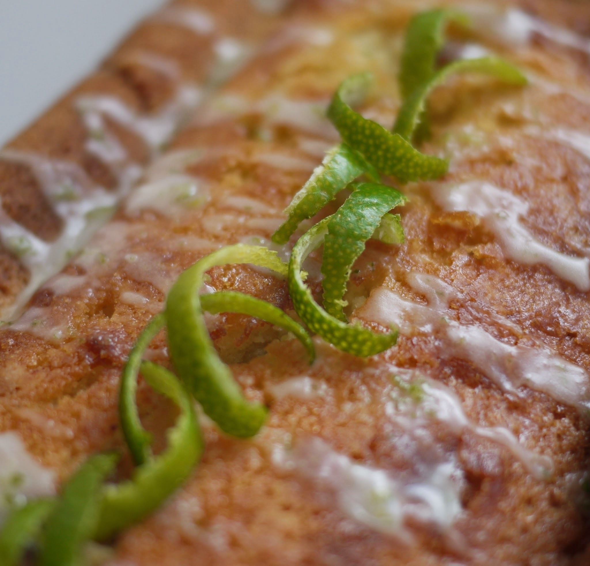Luscious Lemon Loaf Cake with Lime Drizzle