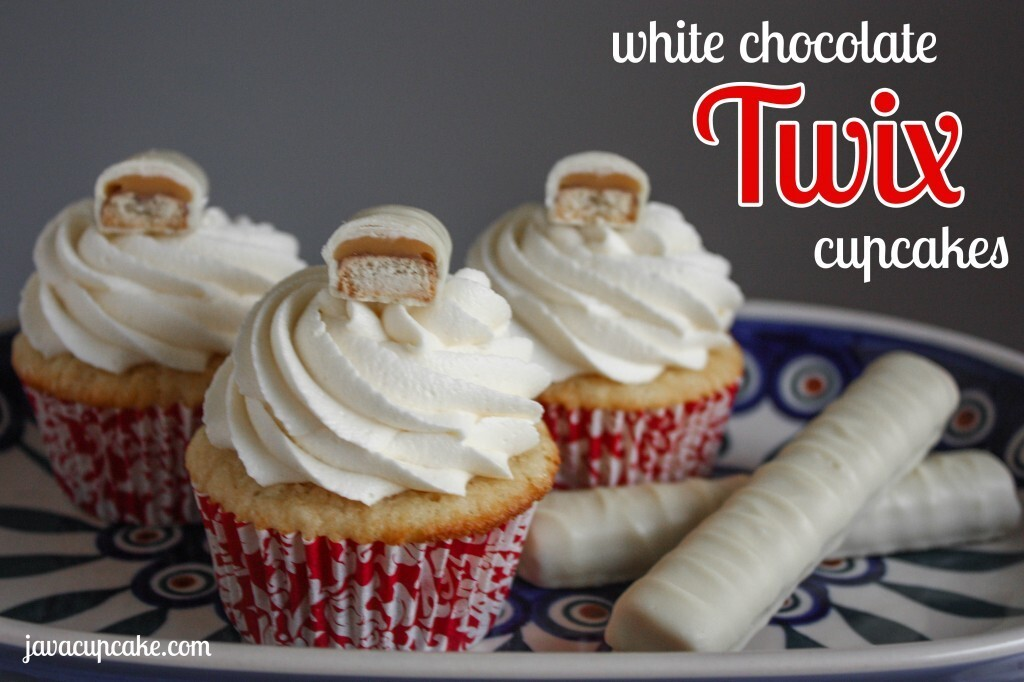 White Chocolate Twix Cupcakes