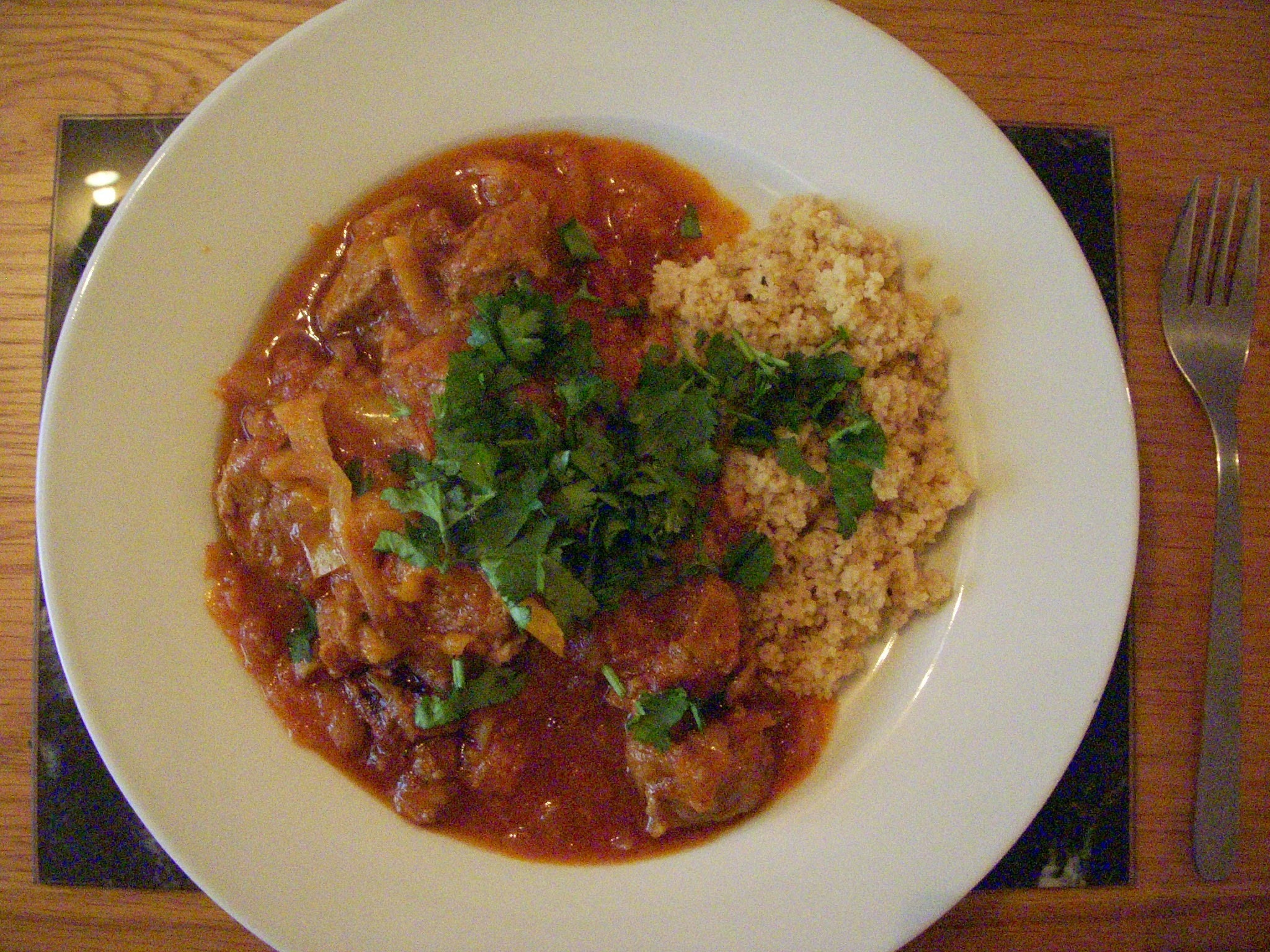 Lamb Tagine with Cous-Cous.