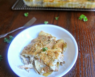 Garlic Parmesan Chicken Lasagna