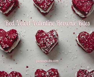Red Velvet Valentine Brownie Bites