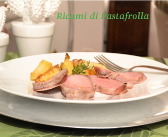 Filetto di maiale cotto a bassa temperatura