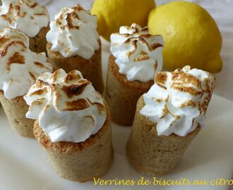 Verrines de biscuits au citron