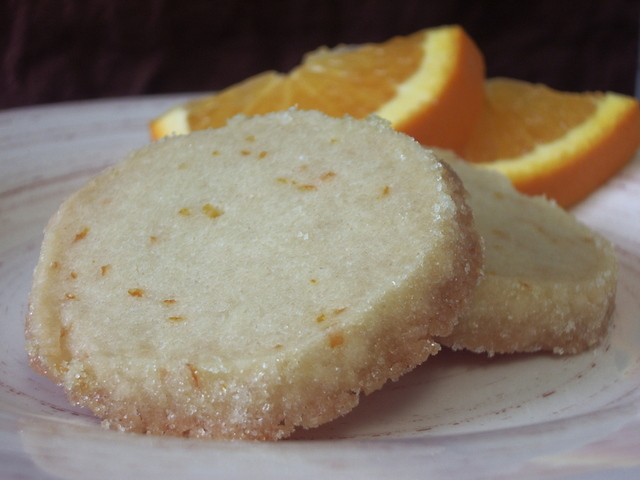 Orange Shortbread {Sunshine Cookies}