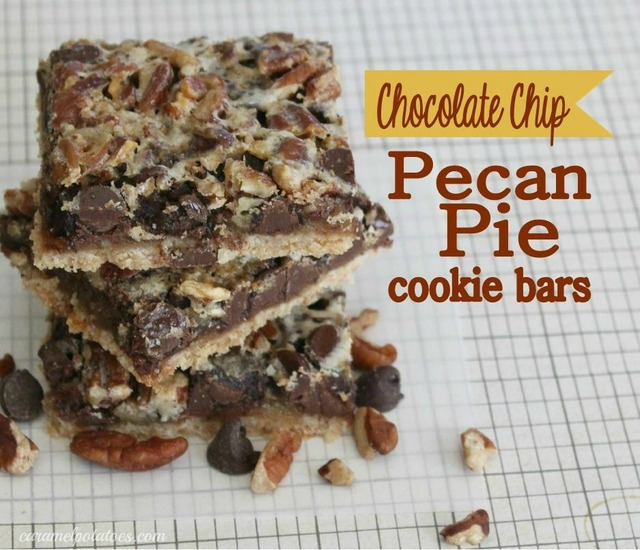 Chocolate Chip Pecan Pie Cookie Bars
