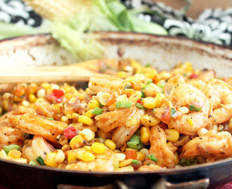 Creole Fried Corn with Shrimp! Cajun Week Day 1