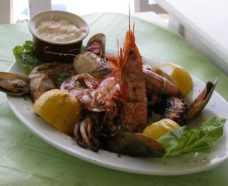 Grilled Seafood On The Greek Islands