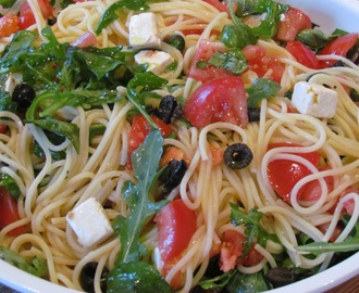 Aldi Recipe #1 – Summer Spaghetti with Feta Cheese