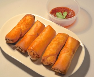 Homemade Vegetable And Glass Noodle Spring Rolls Recipe (Vegetarian Friendly)