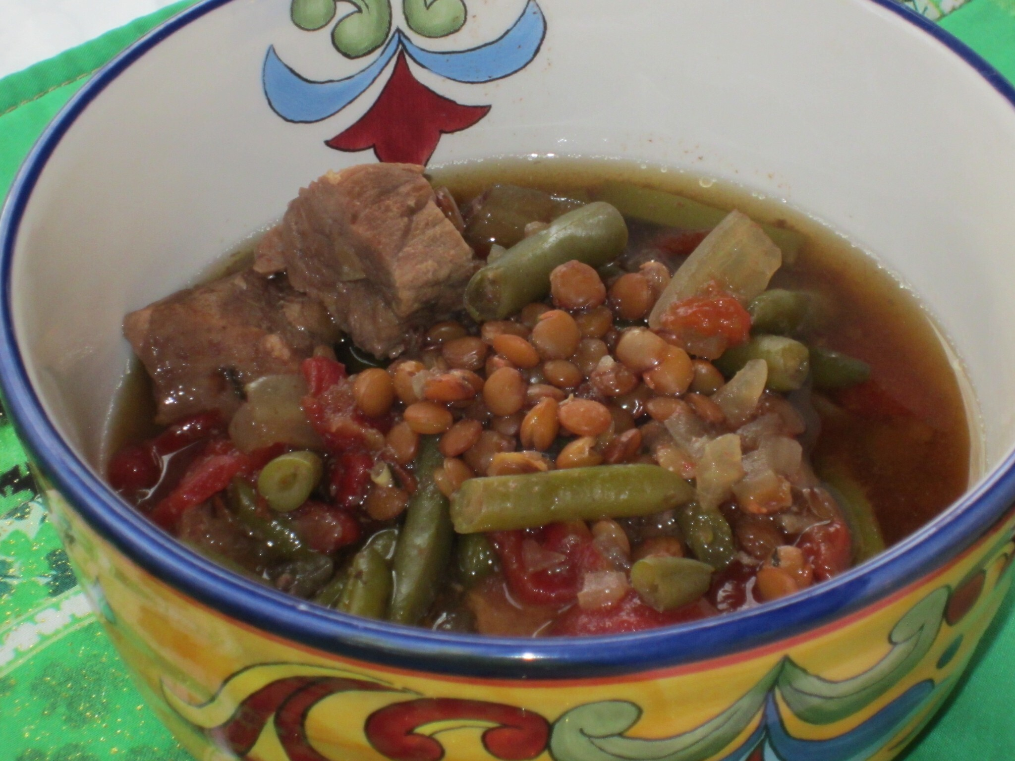 Italian Beef and Lentil Slow-cooker Soup