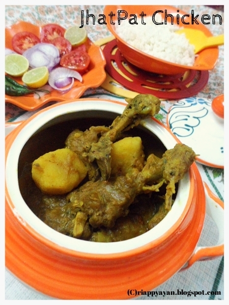 Jhatpat Chicken (An Easy-breezy Bengali Chicken Curry)