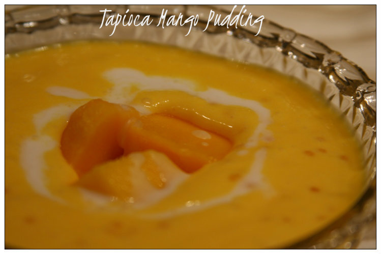Weight Watching with Sabu'r Paayesh/Tapioca Pudding with Mangoes