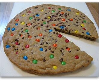 M&M Giant Chocolate Chip Cookie Cake