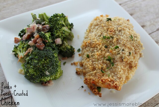 Panko + Pecan-Crusted Chicken
