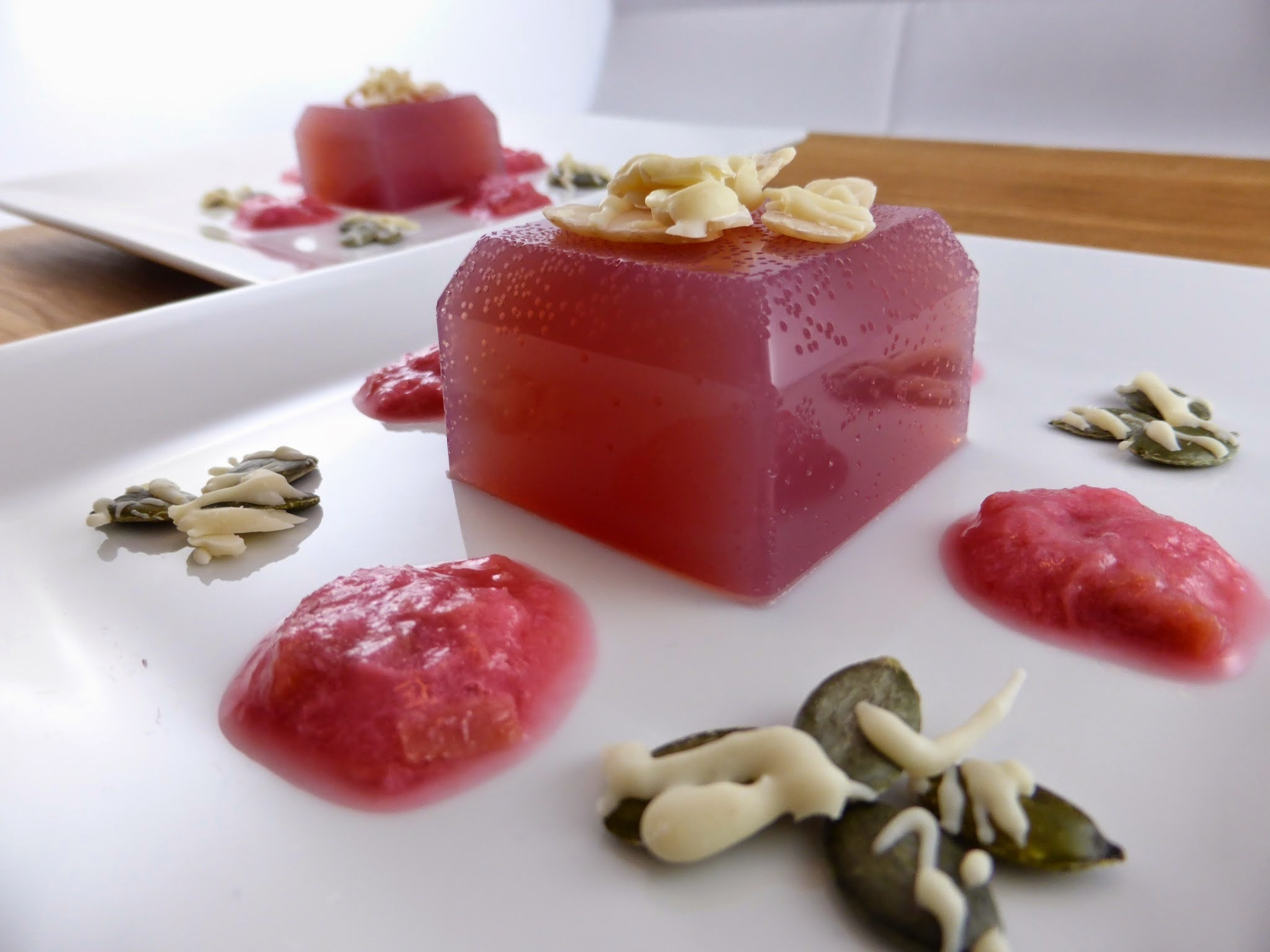Rocket & Roses Apple & Rhubarb Sugar-Free Jelly Dessert (vegan, gluten-free, sugar-free)