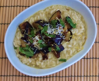 Risotto de beringela e limão | Eggplant and lemon risotto