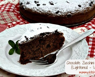 Chocolate Zucchini Cake {Lightened - Up with Truvia Baking Blend}