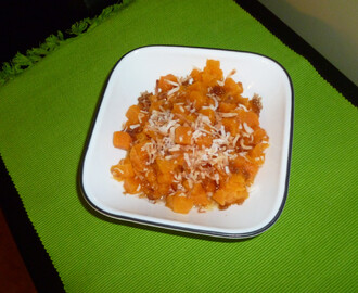 Butternut Squash with brown sugar and toasted coconut!