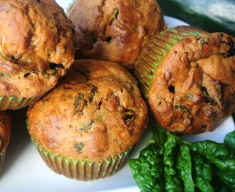 Courgette Spinazie Muffins