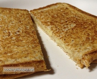 Making Grilled Cheese in a Pan