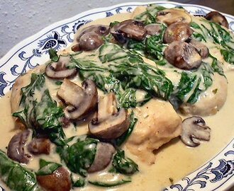 Crockpot Alfredo Chicken With Mushrooms And Spinach