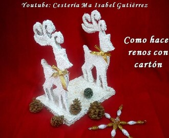 Como hacer renos de cartón. DIY. How to make cardboard reindeer