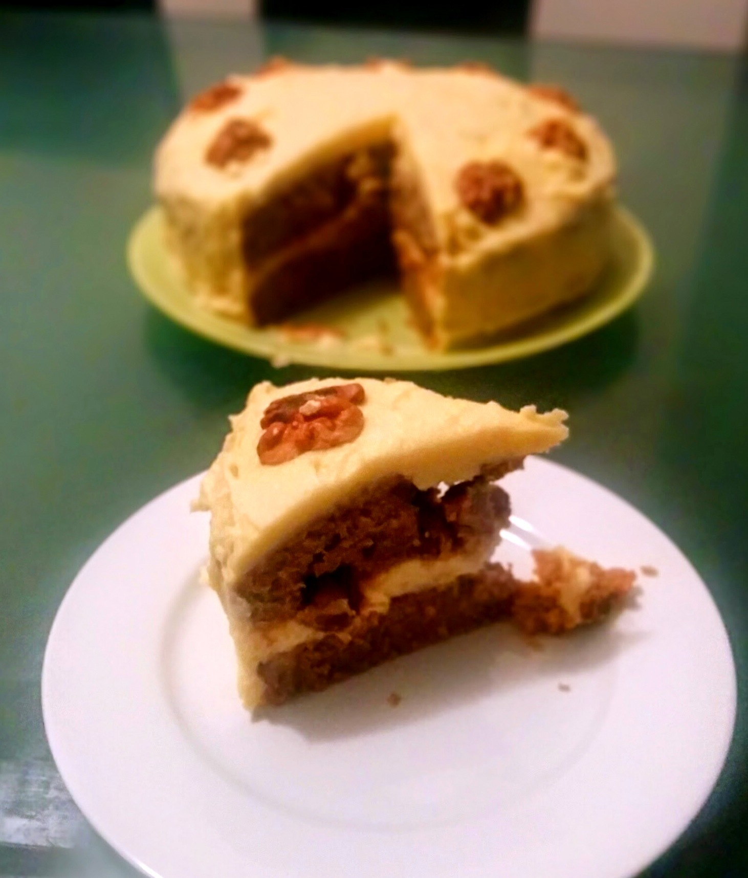 Courgette, Carrot and Walnut Cake