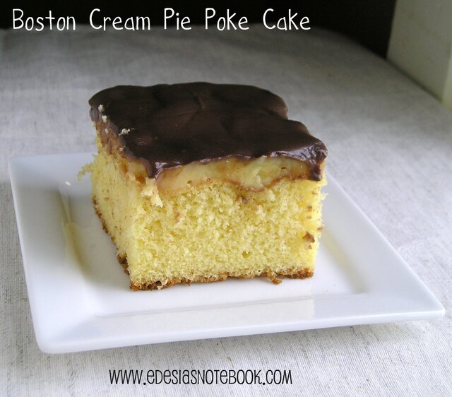 Boston Cream Pie Poke Cake